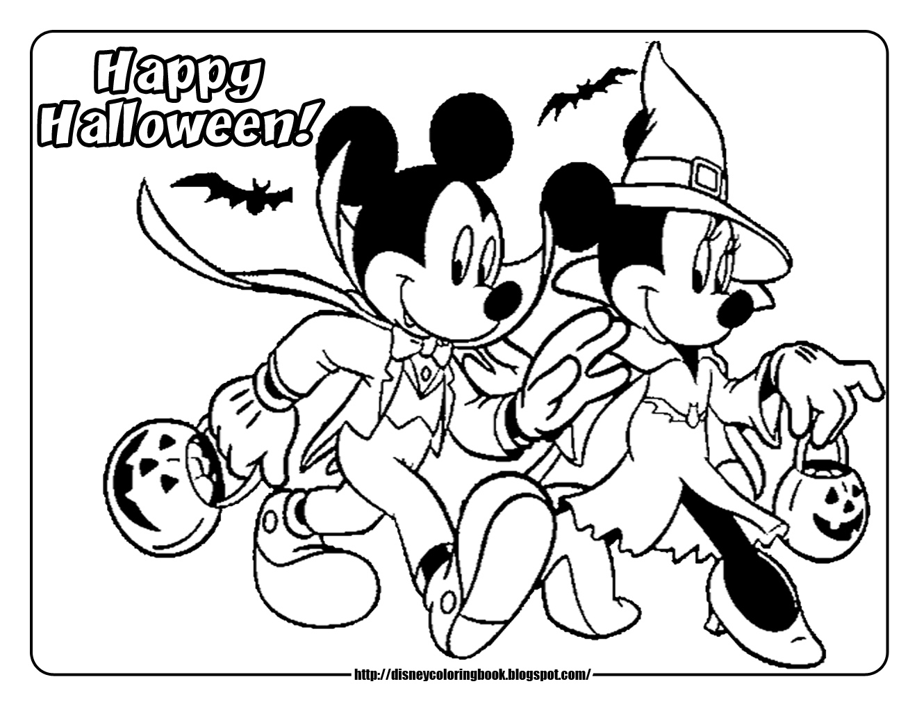 1320x1020 Mickey Mouse Halloween Coloring Pages