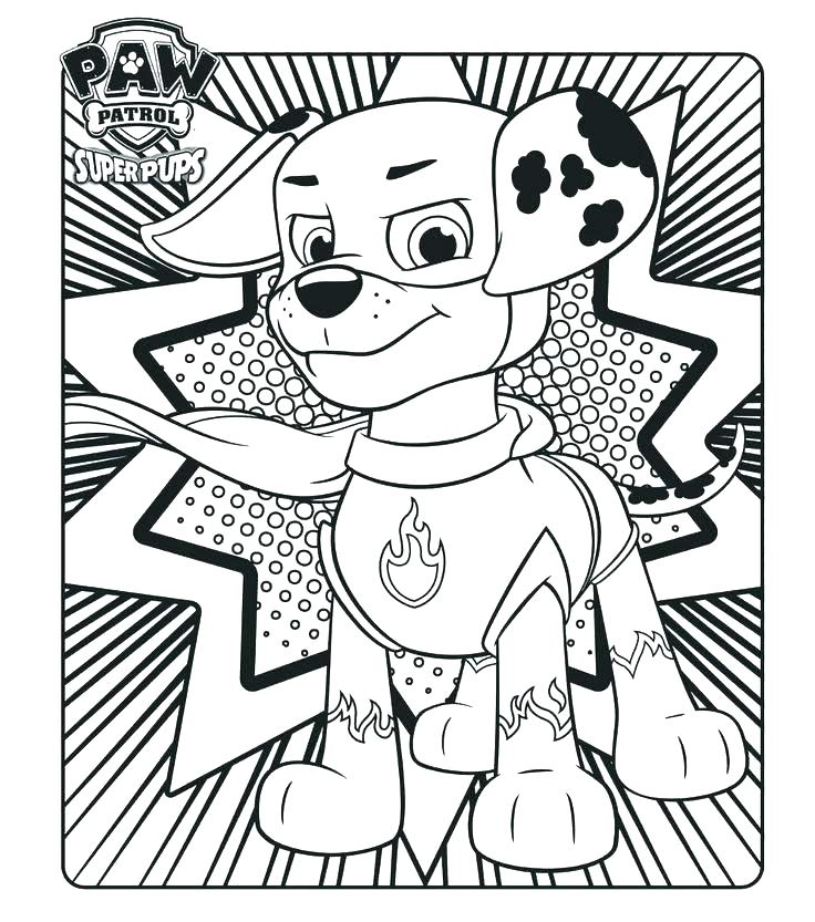 The Best Free Paw Patrol Coloring Page Images Download From