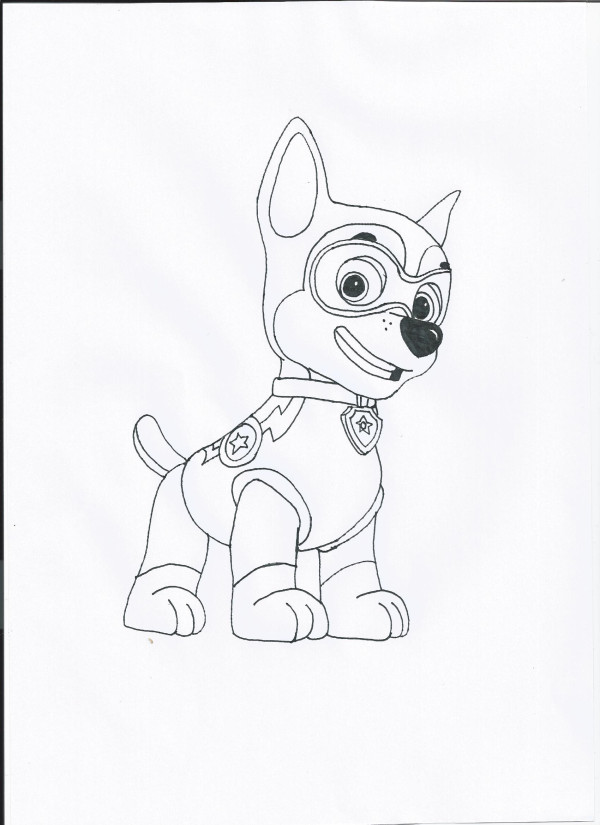 600x825 Paw Patrol Halloween Coloring Pages