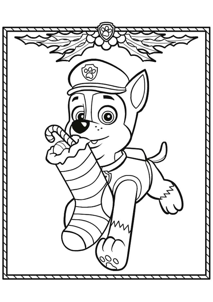 820x1160 Beautiful Ideas Chase Paw Patrol Coloring Page Chase From Paw