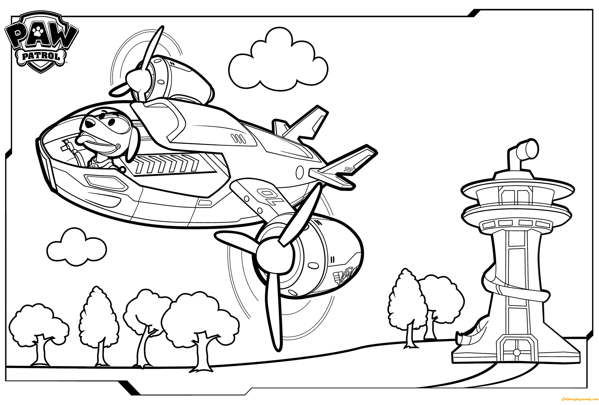 1920x1300 Inspiration Paw Patrol Coloring Pages