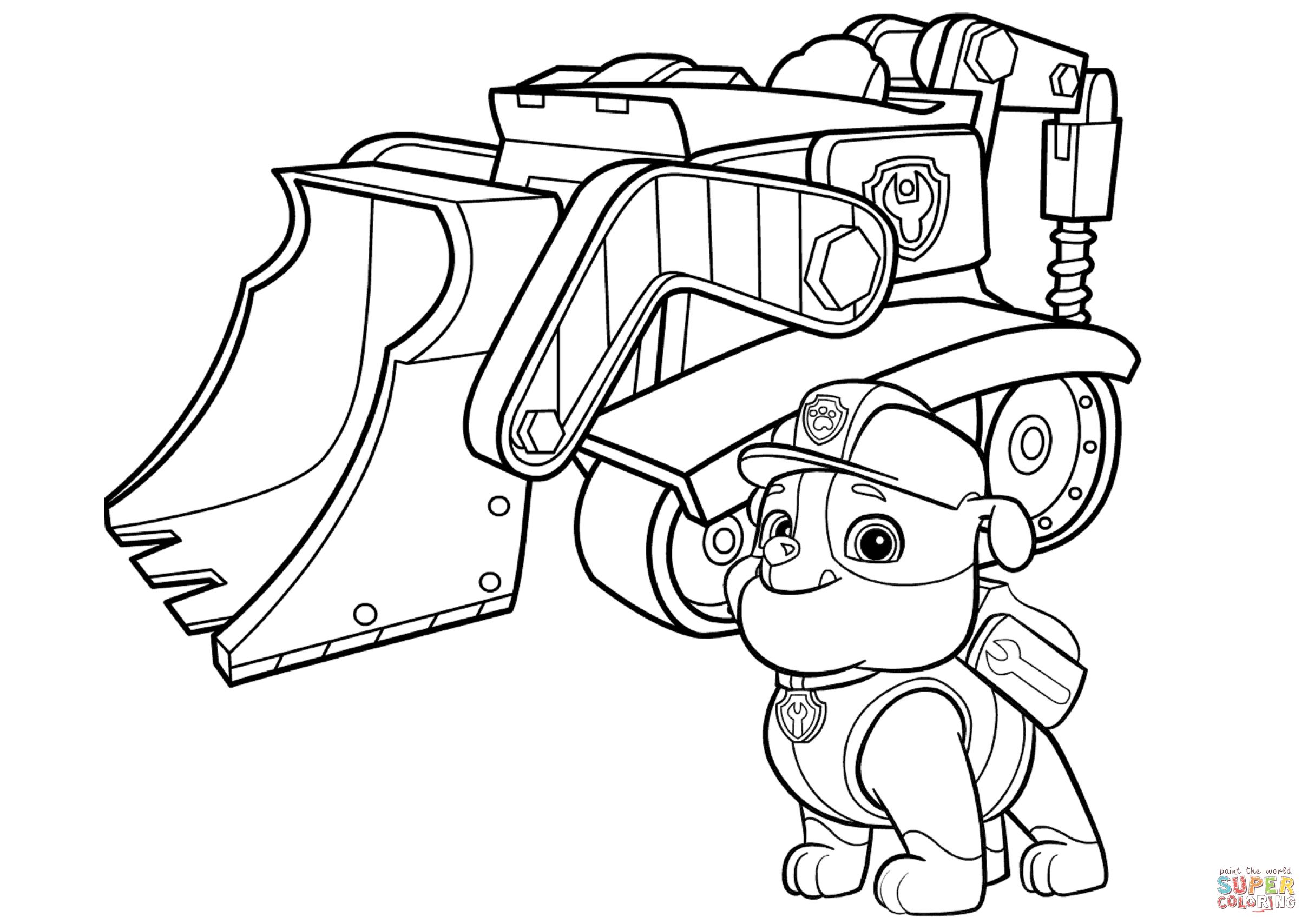 2417x1709 limited rubble paw patrol coloring page bulldo