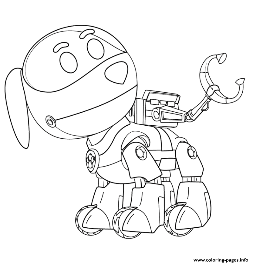 834x872 Paw Patrol Robo Dog Coloring Pages Printable
