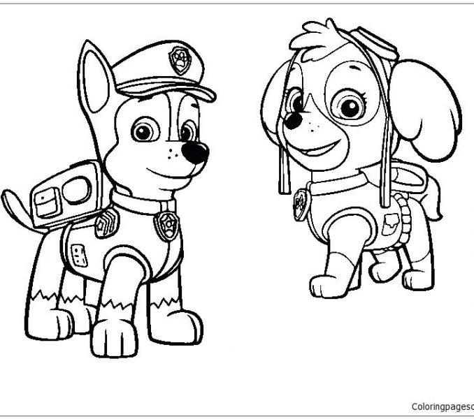 678x600 Chase Paw Patrol Coloring Page Chase Coloring Page Chase Paw