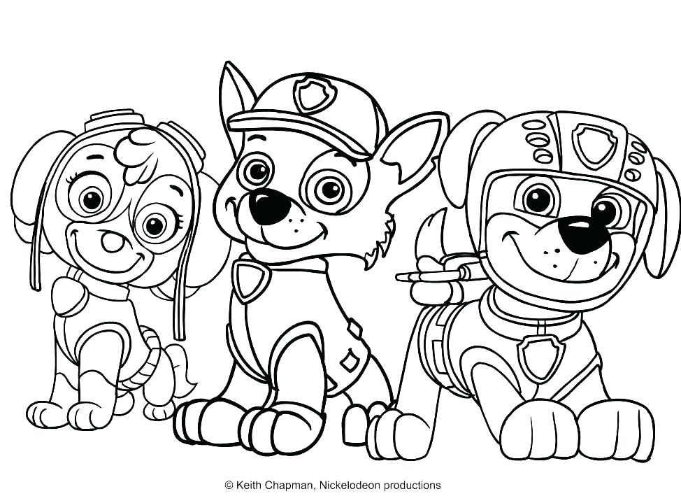 Paw Patrol Coloring Pages Online At Getdrawings Com Free For