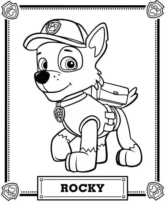 564x689 Paw Patrol Rocky Coloring Pages Coloring Pages