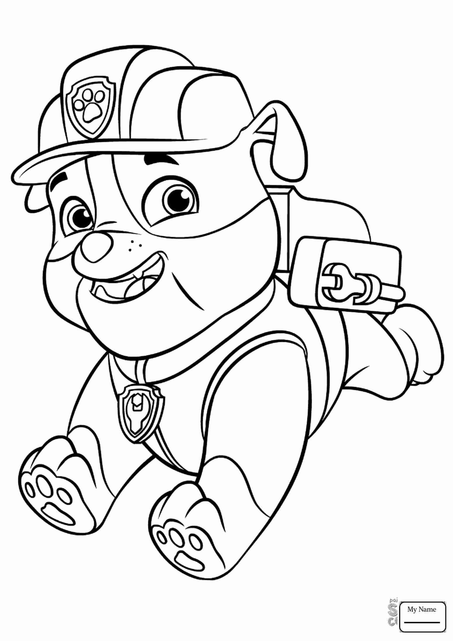 1547x2189 Paw Patrol Rubble Coloring Page Free Pages Online Beautiful