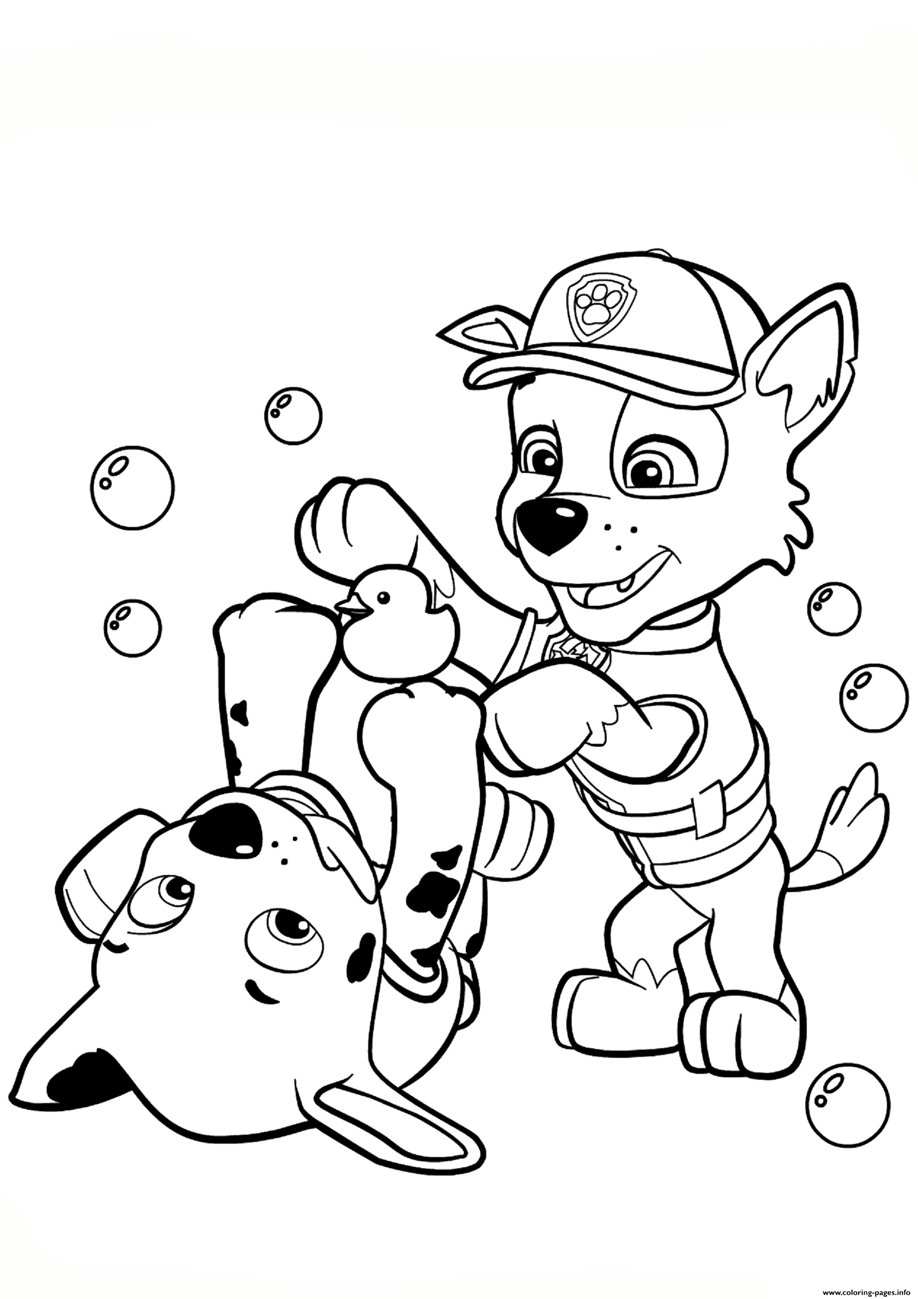 1890x2672 Print Paw Patrol Rocky And Marshall Coloring Pages Coloring