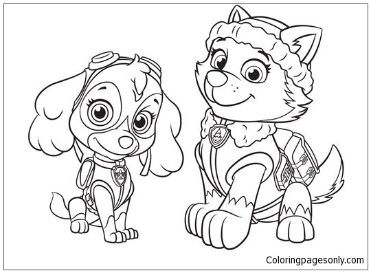 540x397 Skye Paw Patrol Coloring Pages Model Coloring Pages Coloring