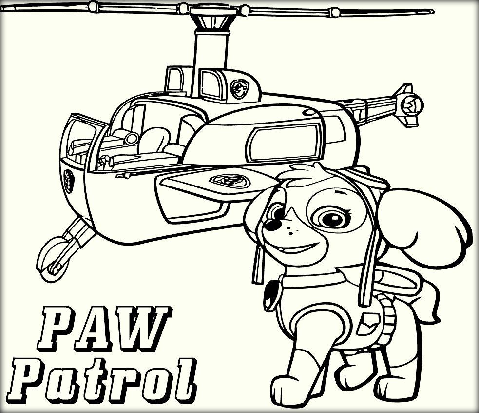 983x846 Free Nick Jr Paw Patrol Coloring Pages