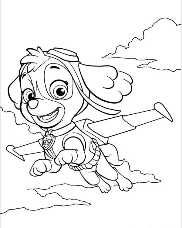 600x750 Free Printable Paw Patrol Coloring Pages For Kids Print Out