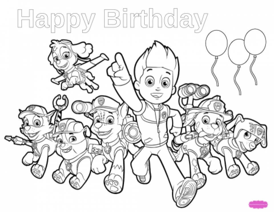 960x743 Get This Paw Patrol Coloring Pages Online For Kids !