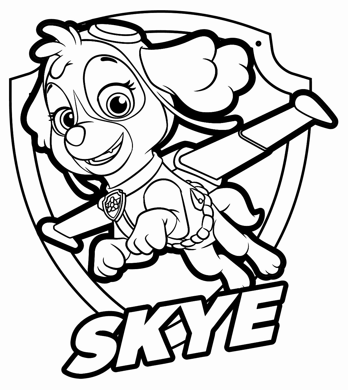 paw patrol coloring pages sky at getdrawings  free download