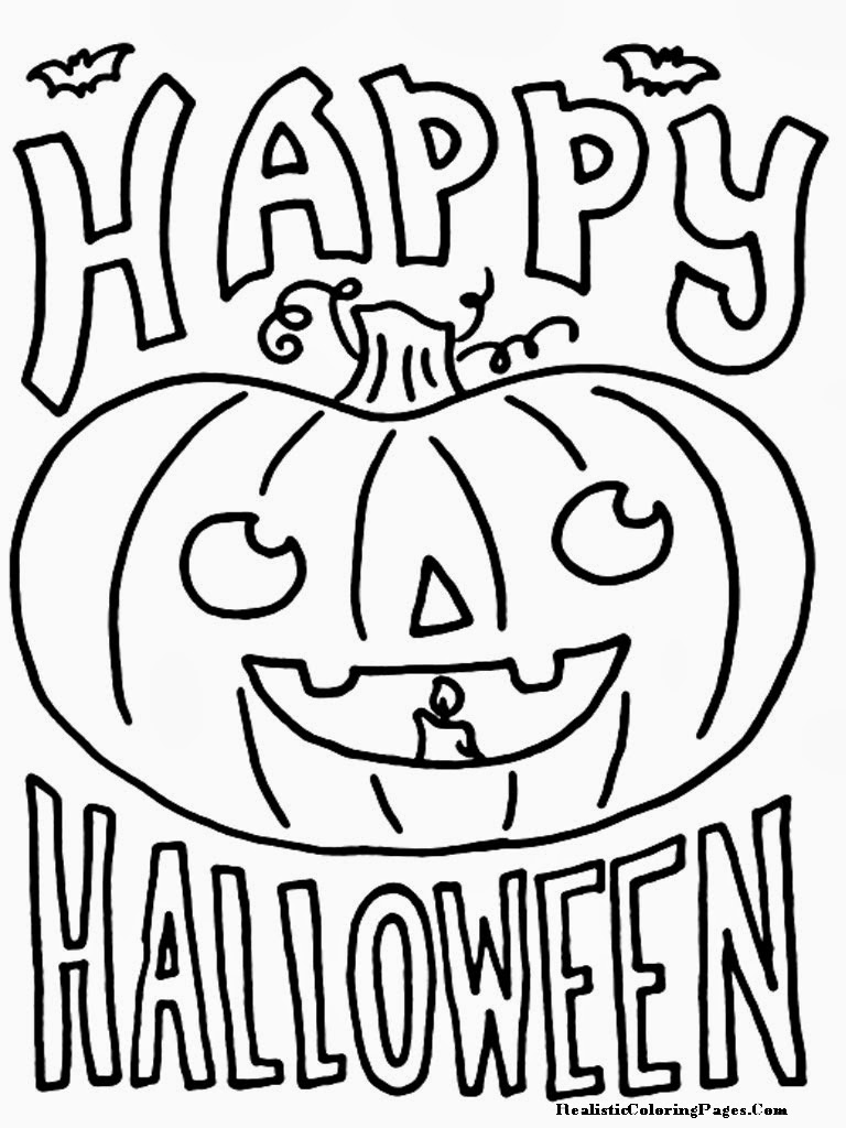 768x1024 Happy Halloween Coloring Pages Printable