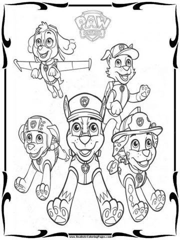 360x480 Paw Patrol Coloring Pages Gif Printable Free Halloween Colouring
