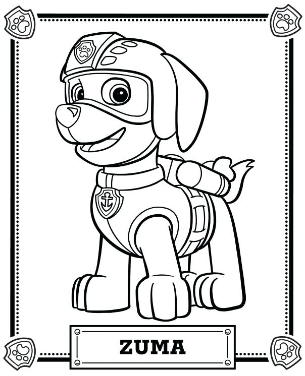 604x746 Paw Patrol Coloring Pages Printable Paw Patrol Coloring Pages Free