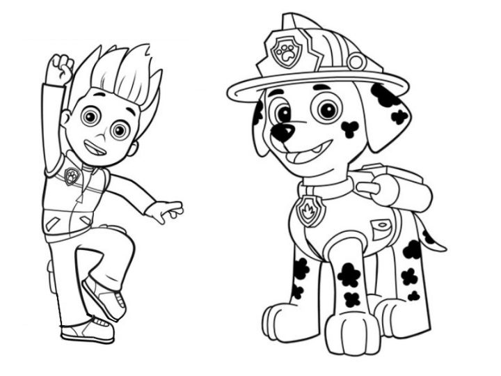 720x540 Printable Coloring Pages For Paw Patrol