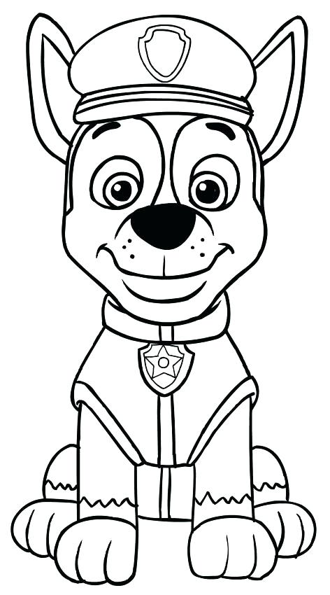 Paw Patrol Pups Coloring Pages