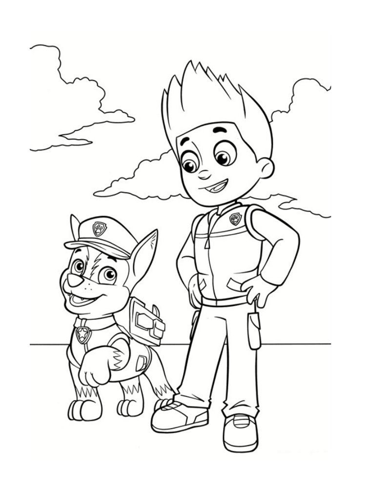 Coloriage Pat Patrouille Badge.Paw Patrol Ryder Coloring Page At Getdrawings Com Free For