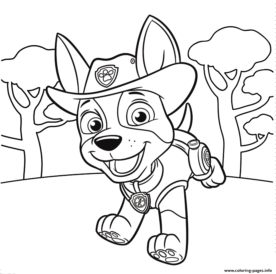 1046x1038 Jungle Pup Tracker Paw Patrol Coloring Pages Printable