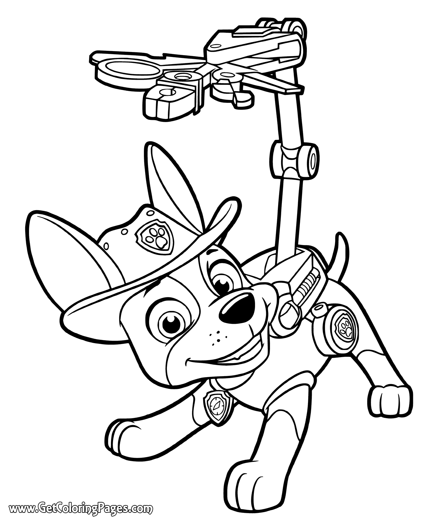 1400x1670 Paw Patrol Tracker Coloring Page