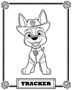 236x295 Paw Patrol Tracker Coloring Pages Trevon Paw