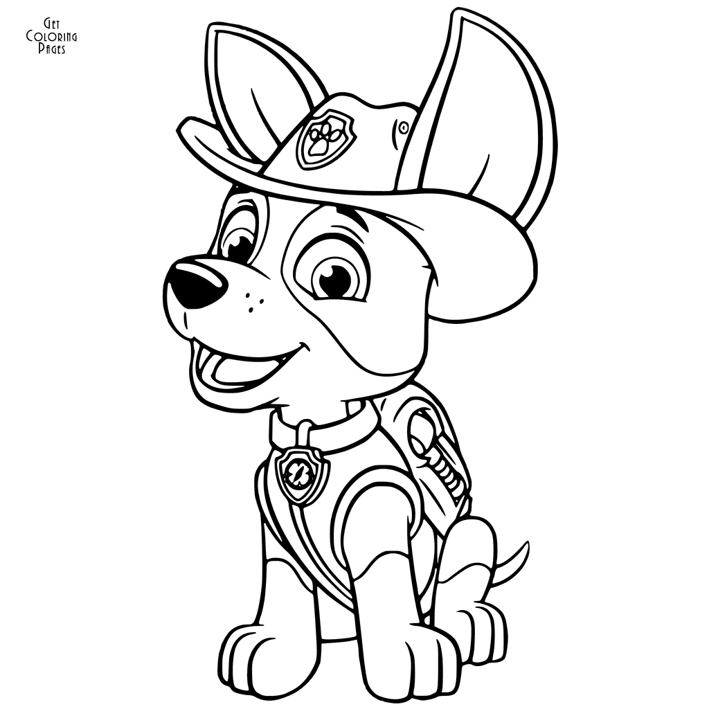 Paw Patrol Tracker Coloring Pages At Getdrawings Com