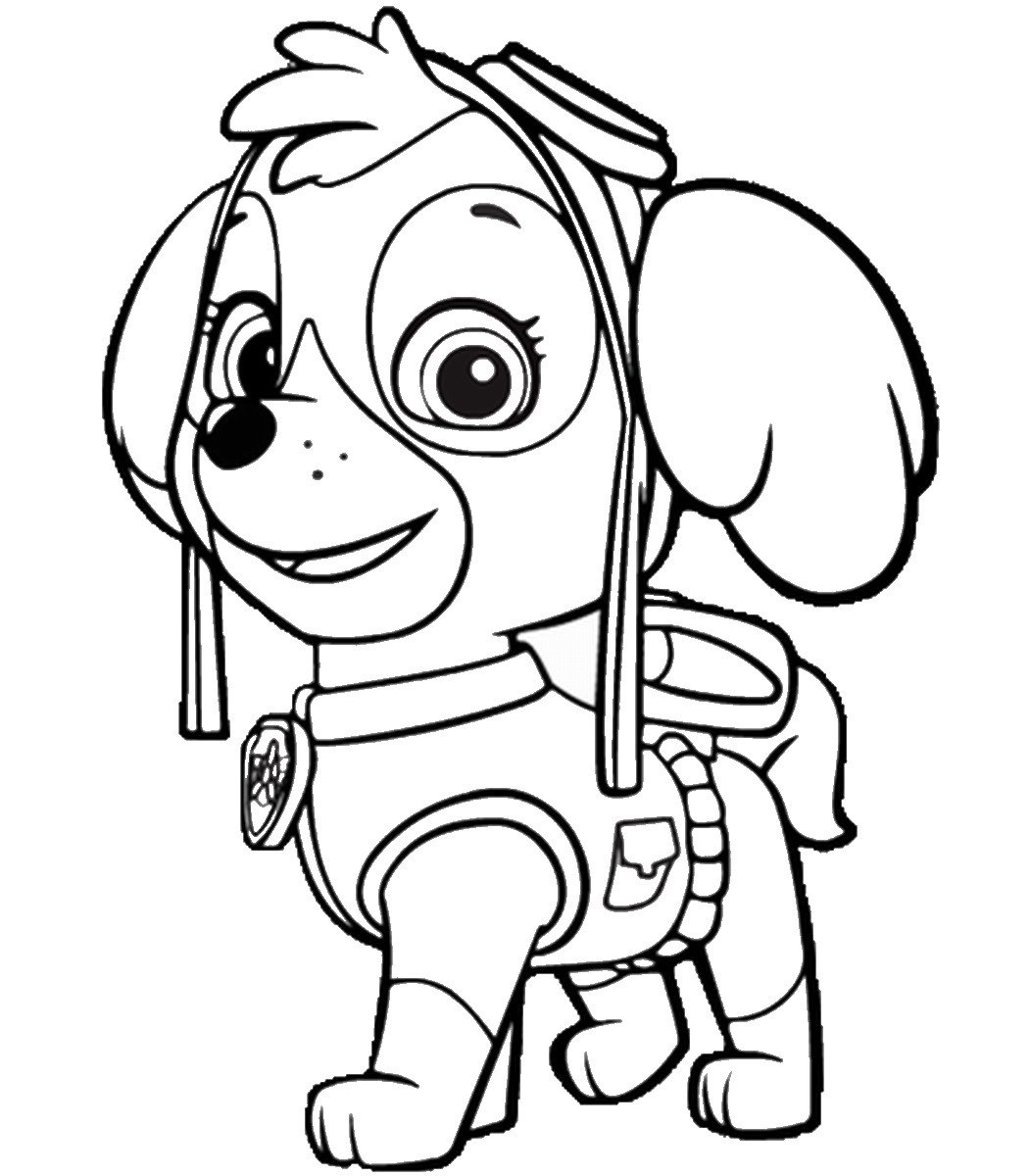 1051x1200 Paw Patrol Printable Coloring Sheets Tracker Tearing Pages