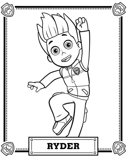 533x663 Paw Patrol Ryder Coloring Page For Boys Color Me Fun