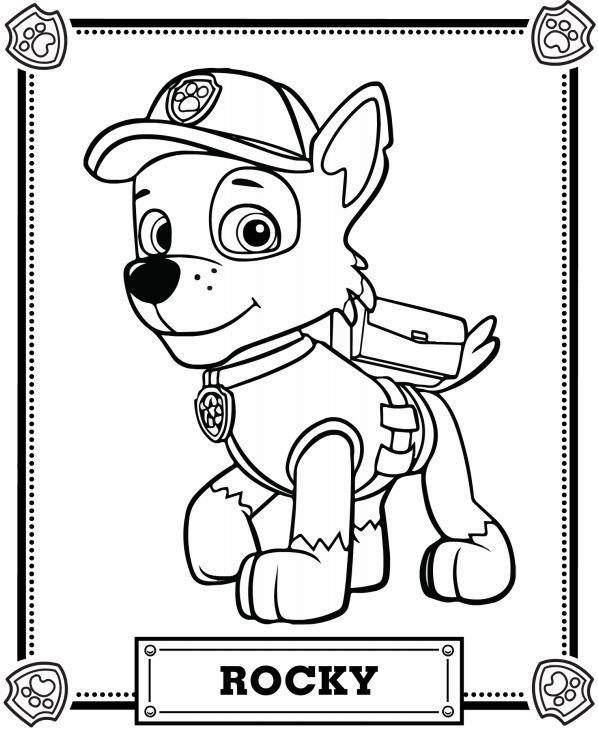 598x731 Paw Patrol Coloring Pages Patrulla Canina, Colorear Y Cumple
