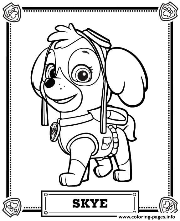 575x707 Print Paw Patrol Skye Coloring Pages Andreas Ideas Birthday