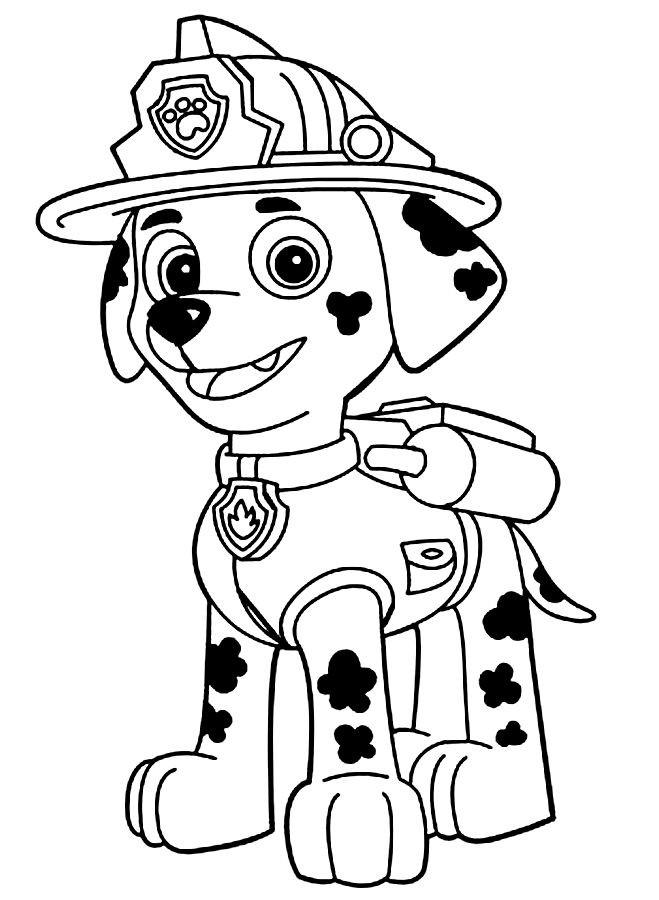 659x900 Tracker Paw Free Coloring Page Animals, Kids, Paw Patrol