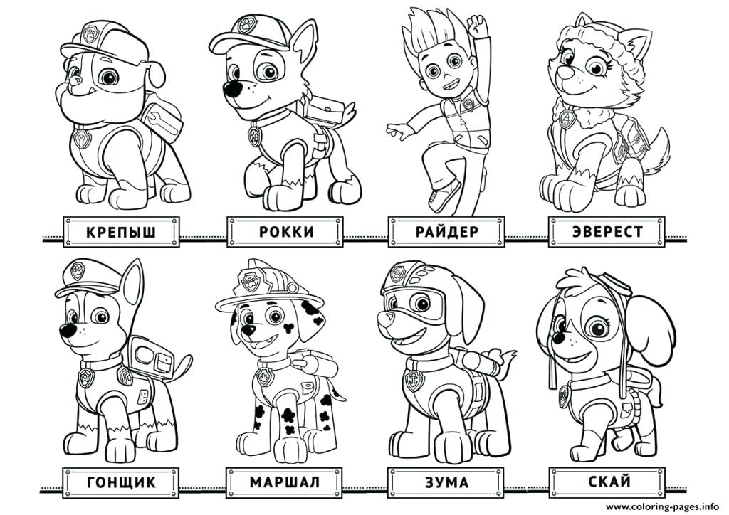 1024x724 Free Printable Paw Patrol Coloring Pages
