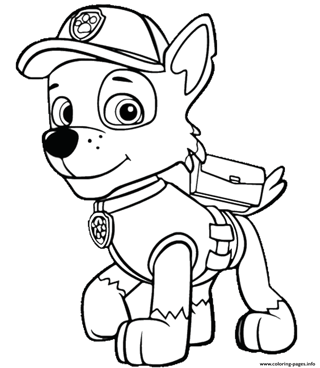 1042x1200 Free Paw Patrol Coloring Pages