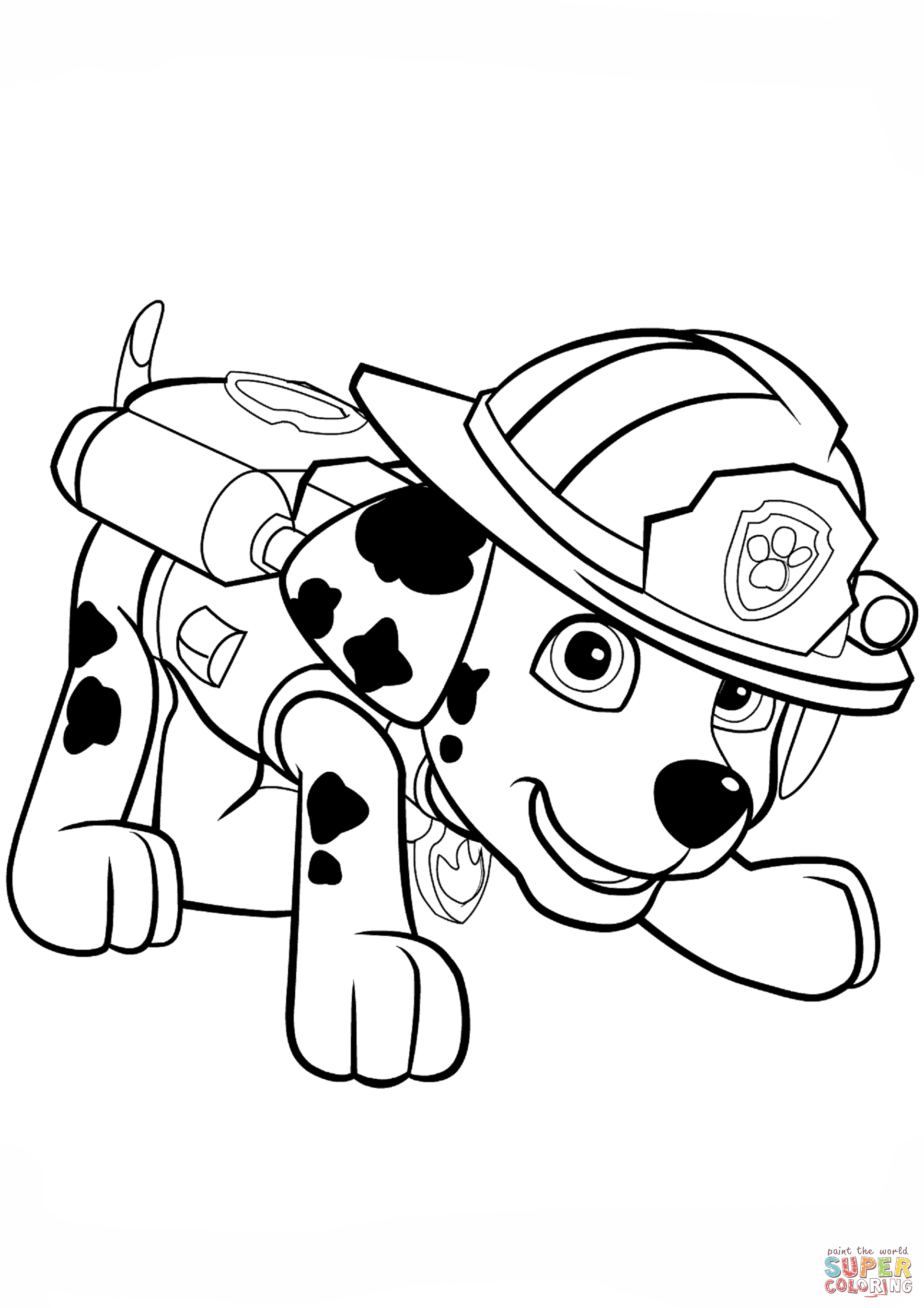 Paw Patrol Tracker Coloring Pages at GetDrawings | Free ...