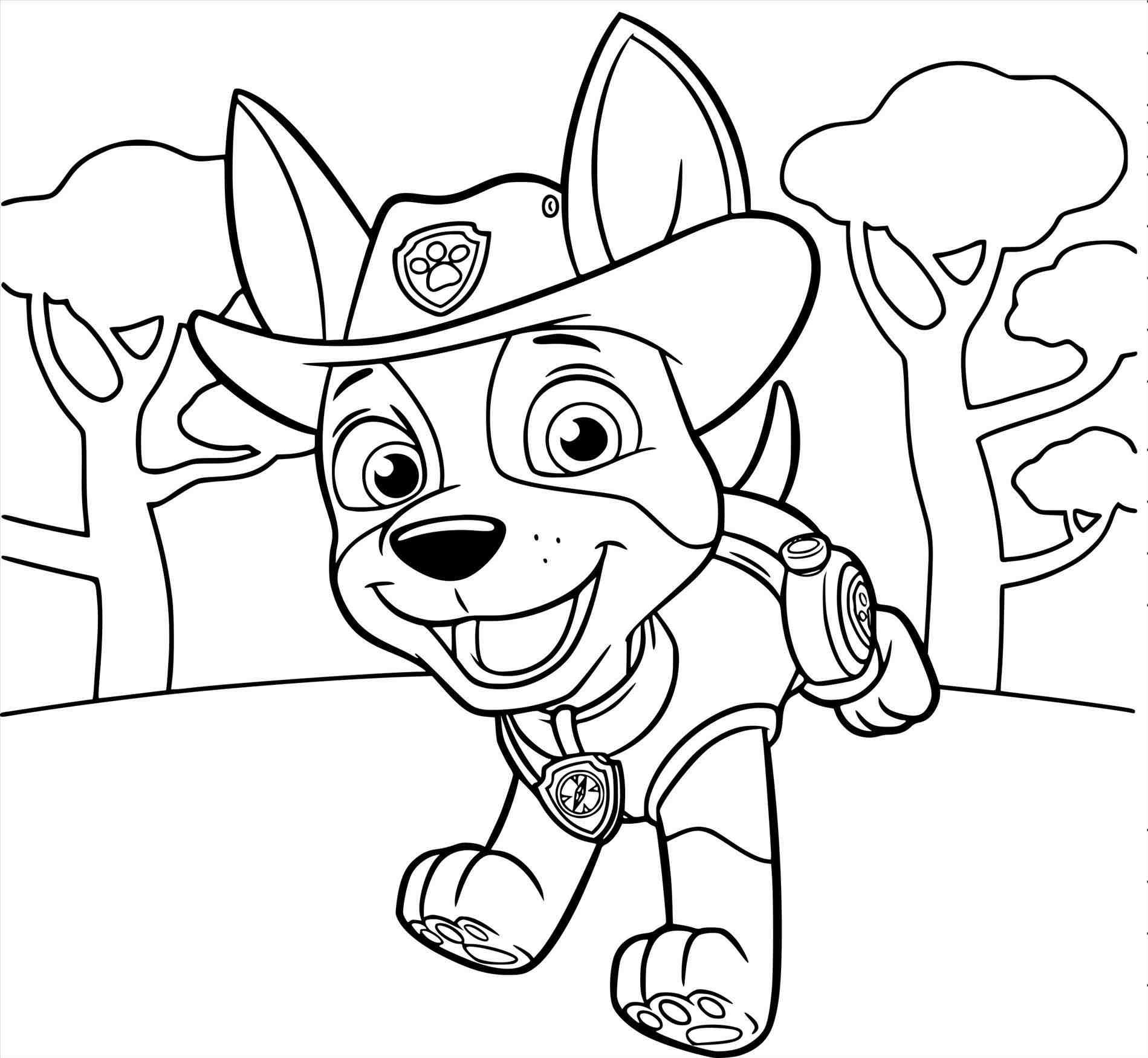 Paw Patrol Tracker Coloring Pages At Getdrawings Com Free