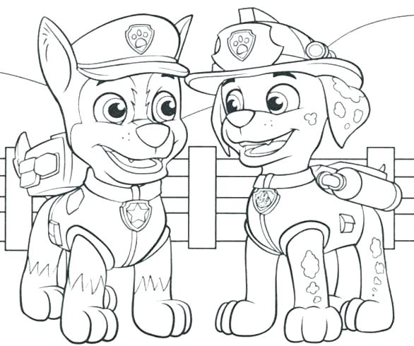 Paw Patrol Valentines Coloring Pages At Getdrawings Com Free For