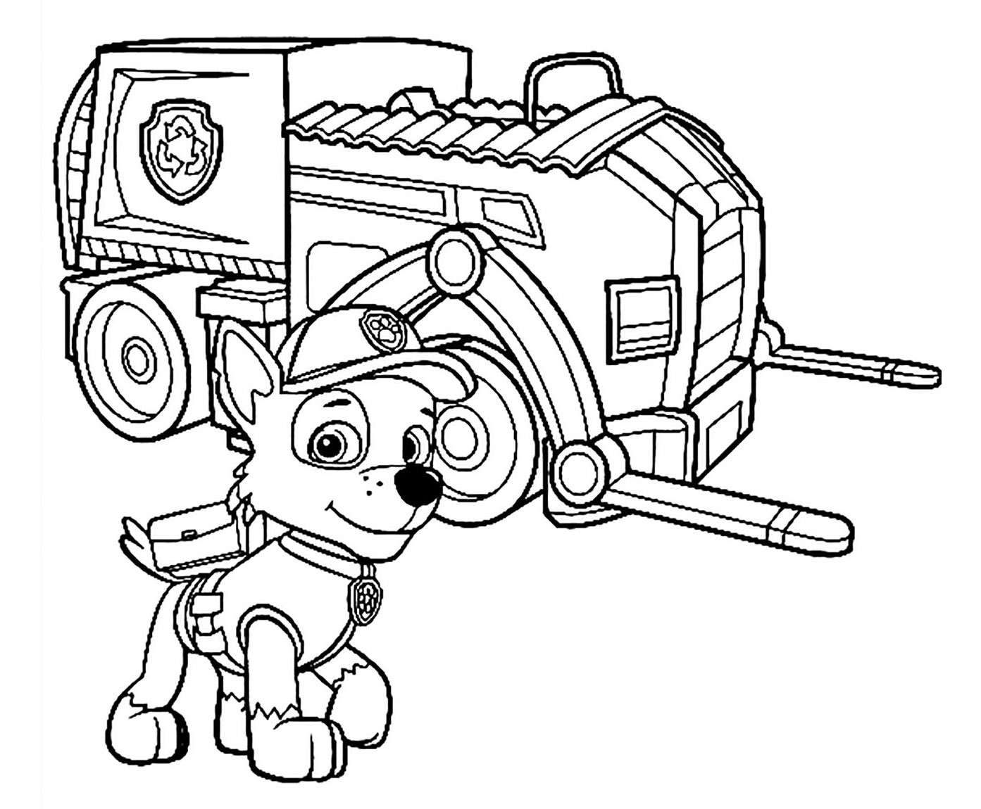 Paw Patrol Vehicles Coloring Pages At Getdrawings Free Download