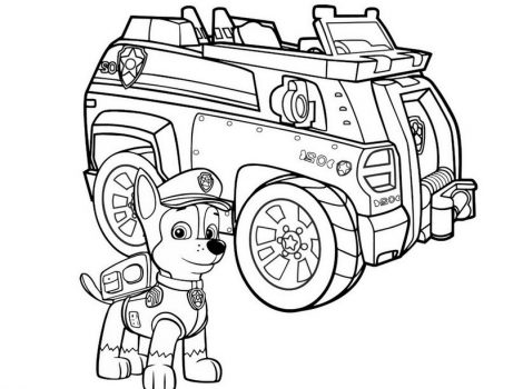 paw patrol vehicles coloring pages at. Black Bedroom Furniture Sets. Home Design Ideas