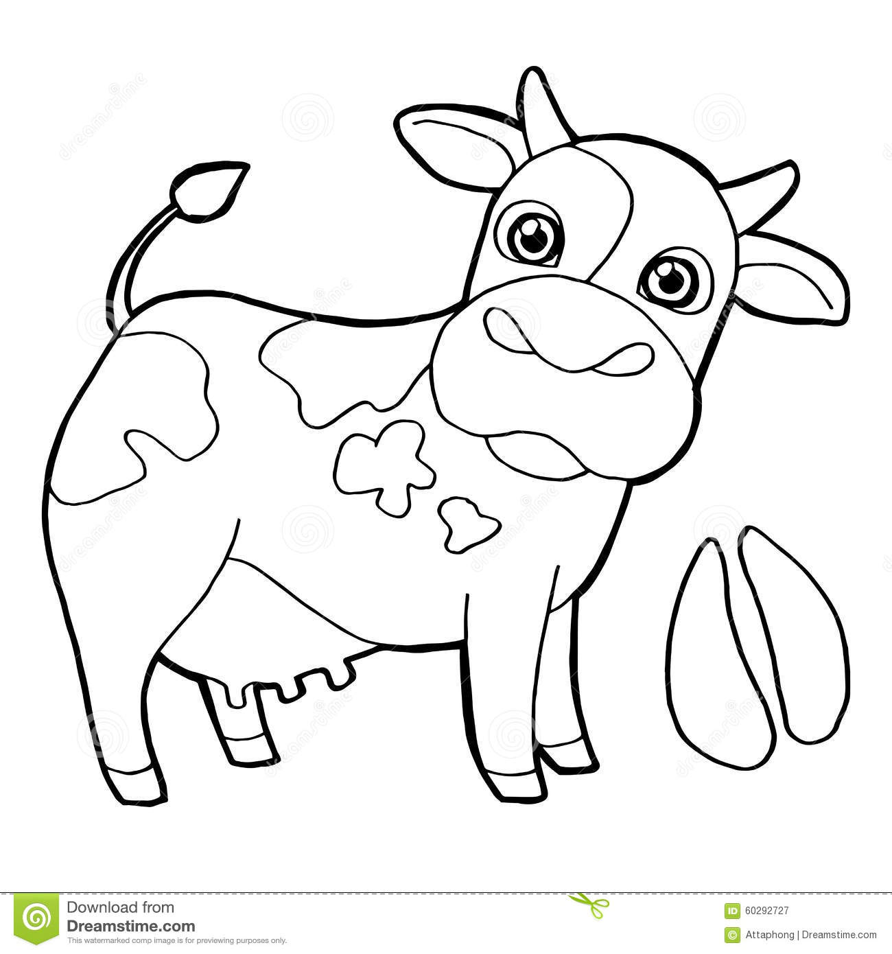 1300x1390 Cattle With Paw Print Coloring Pages Vector Stock Vector Paw Print