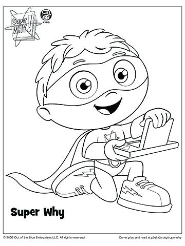 360x480 Pbs Coloring Pages Super Y Coloring Pages Super Why Coloring Book