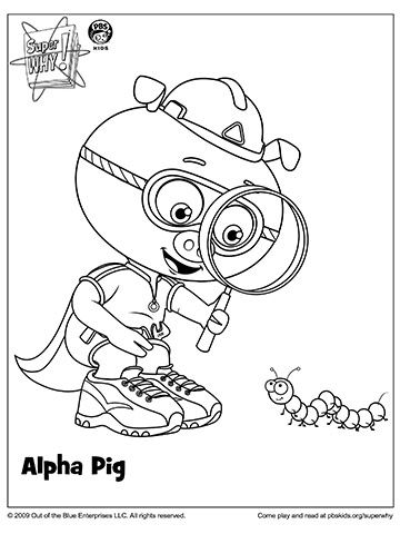 360x480 Super Why Coloring Pages Super Why Coloring Book Pages From Pbs