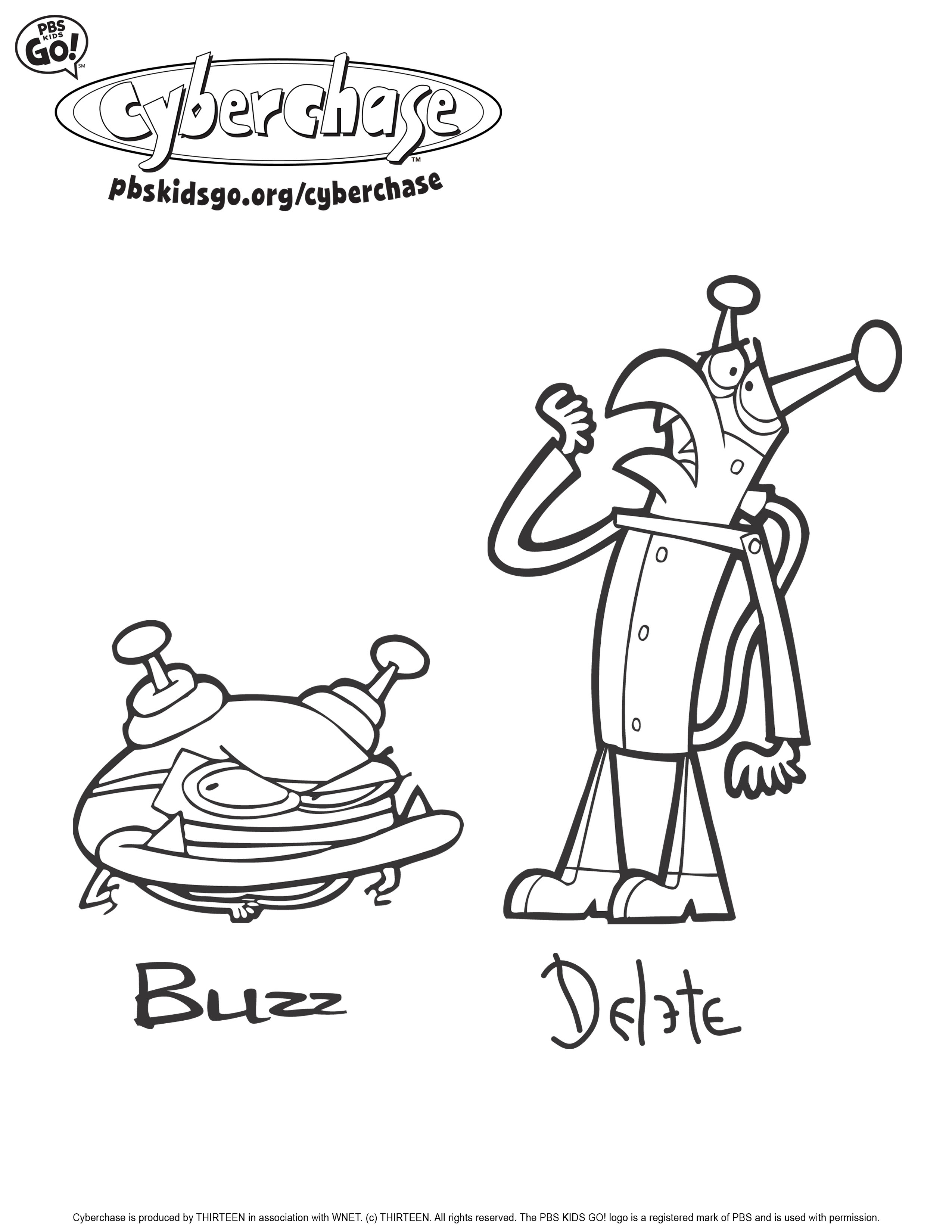 2550x3300 Cyberchase Coloring Pages Pbs Parents
