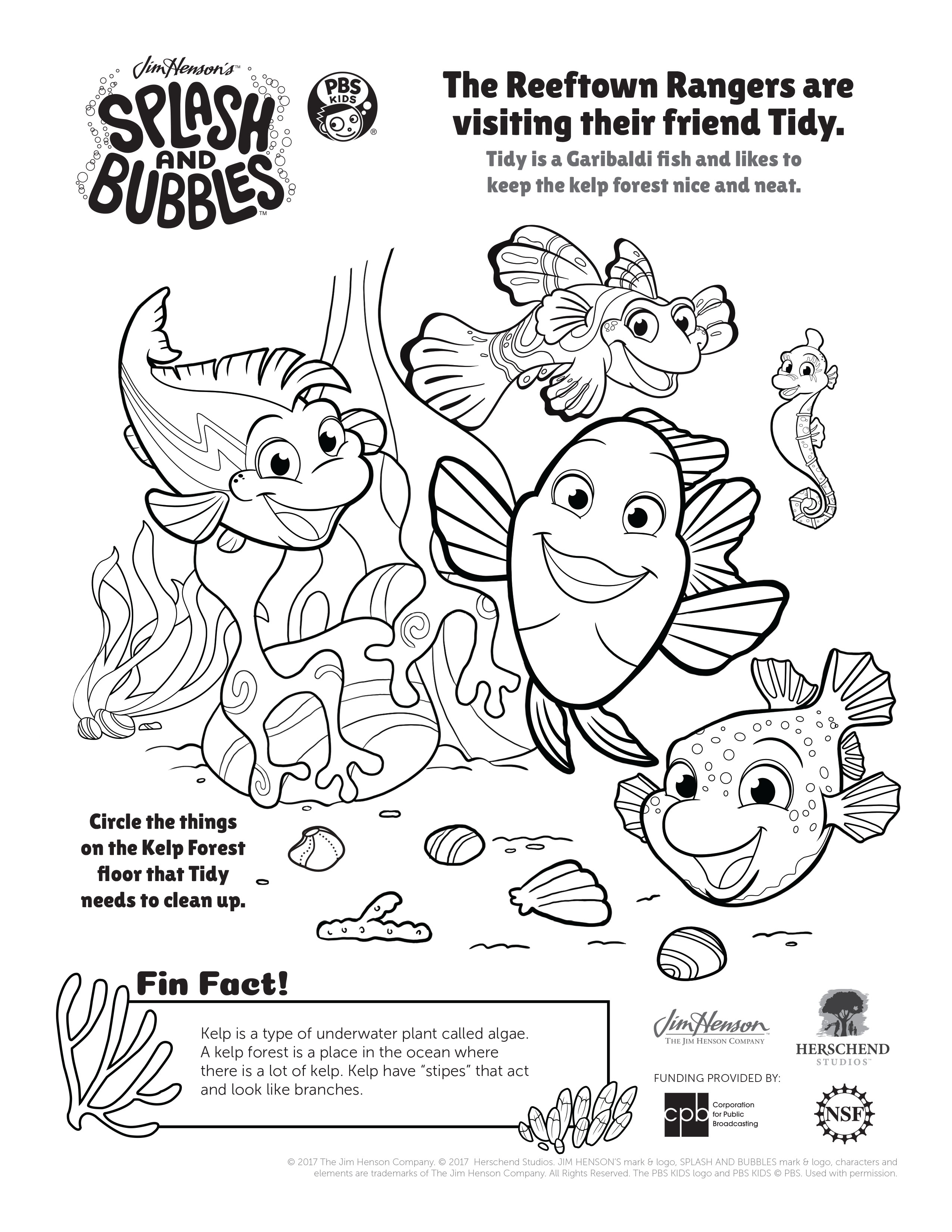 2550x3300 Fun Splash And Bubbles Coloring Pages!