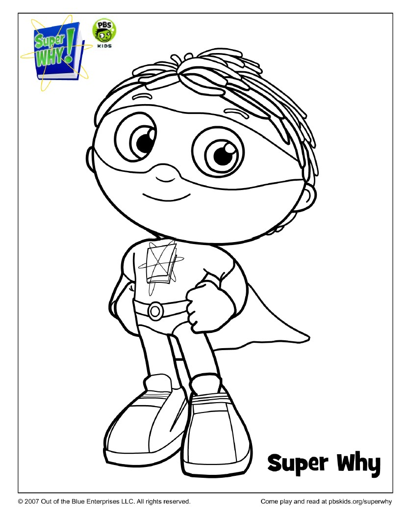 832x1061 Super Why Coloring Pages