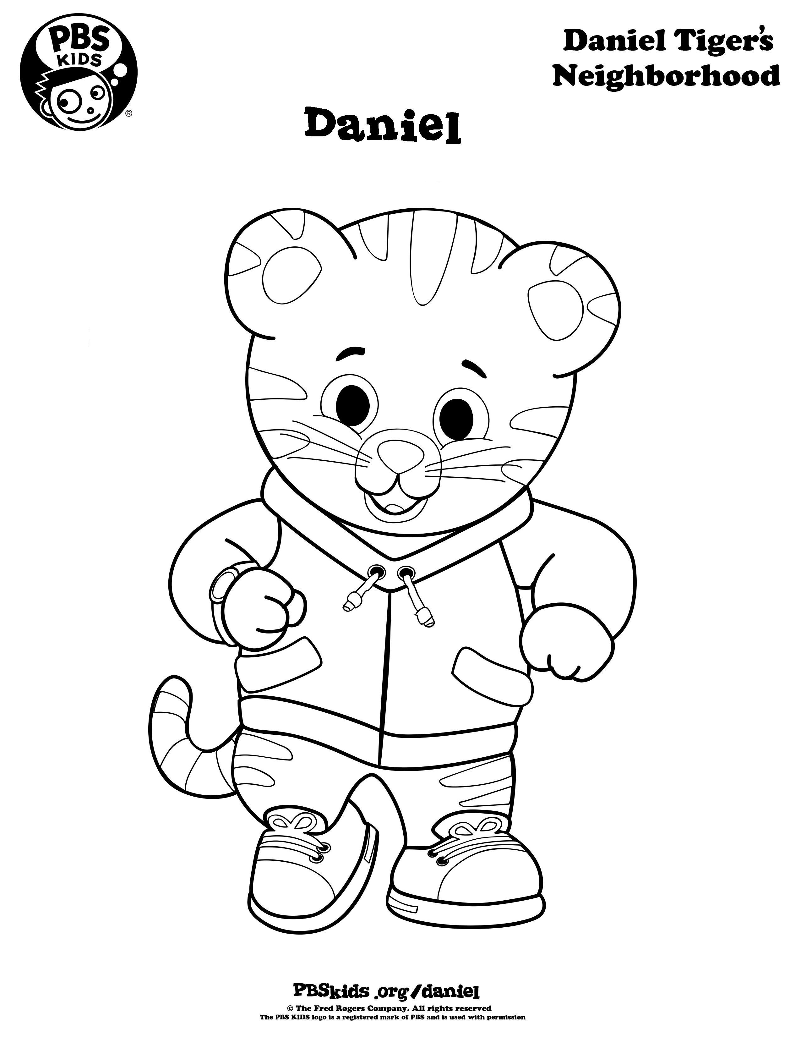 2550x3300 Coloring Daniel Tiger's Neighborhood Pbs Kids Crafts