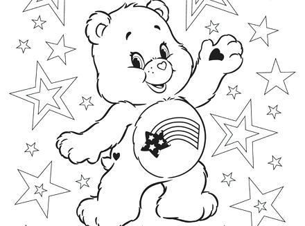 440x327 Meet Cares Bear Care Bears Coloring Pe Full Care Bear Coloring