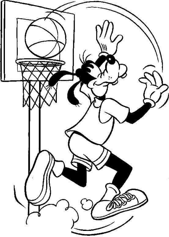 553x778 Pe Coloring Pages Basketball Coloring Pages Goofy Palying