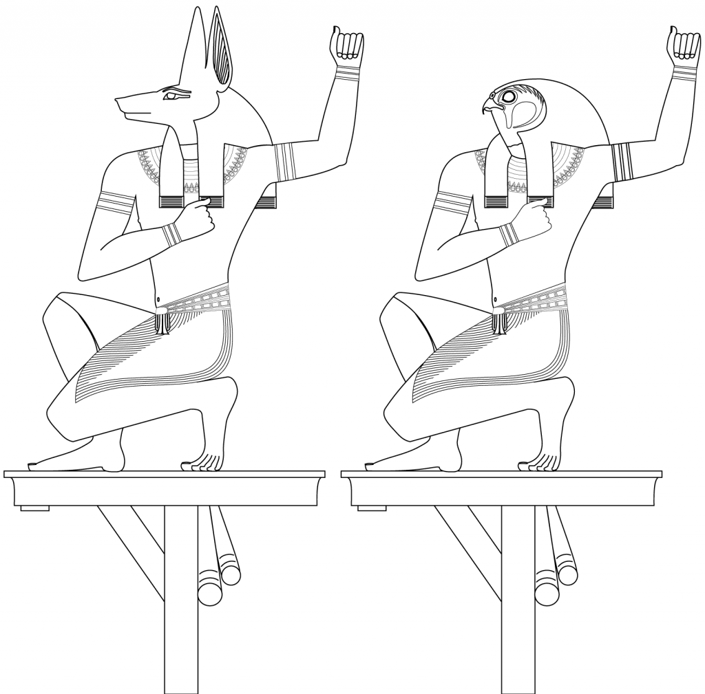 1024x1009 Souls Of Pe And Nekhen Egypt Coloring Pages