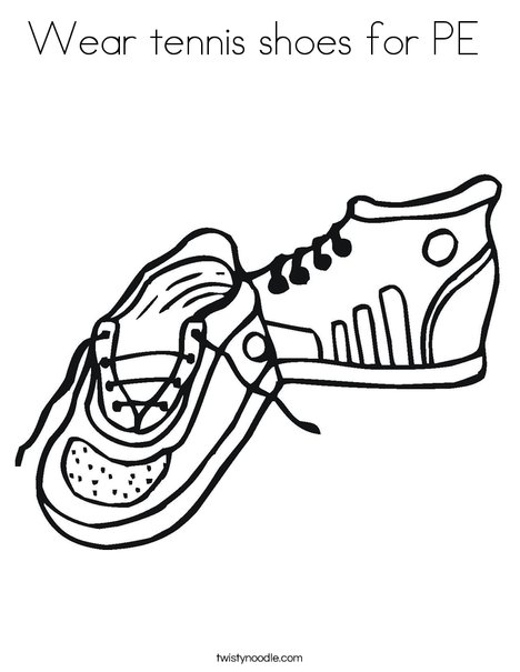 468x605 Wear Tennis Shoes For Pe Coloring Page